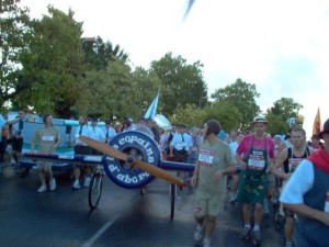 Yes, they are pushing this plane for 26.2 miles!